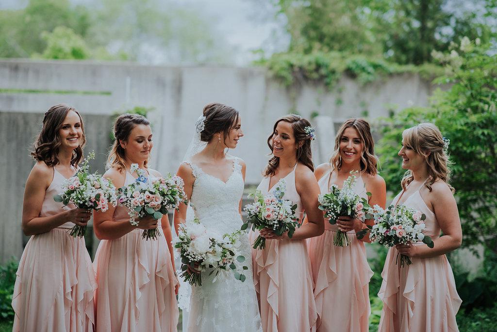 Blush Bridesmaid Dresses - Wedding Florists in Winnipeg