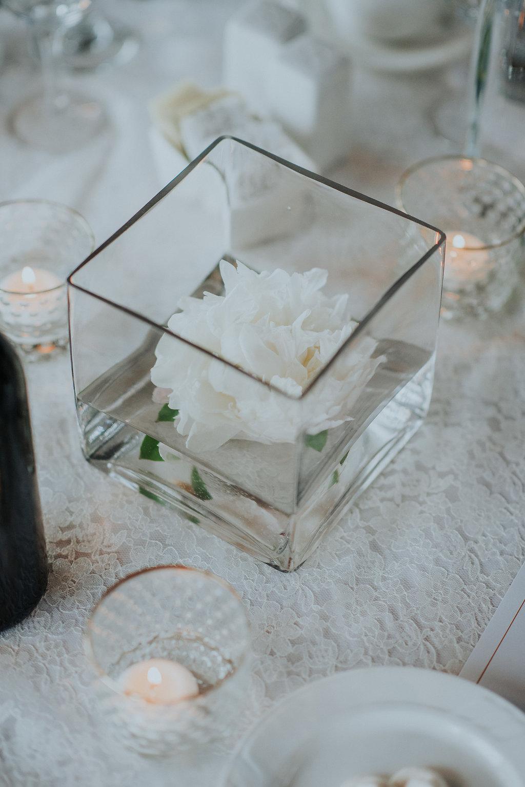 Floating Peony Centrepiece - Winnipeg Wedding Flowers