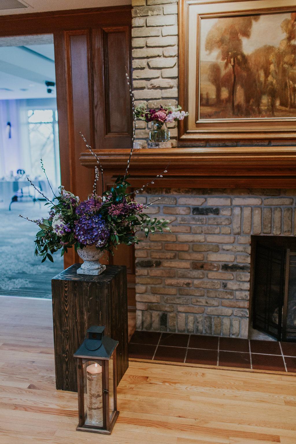 Indoor Wedding Ceremony Decor - Spring Wedding Flowers