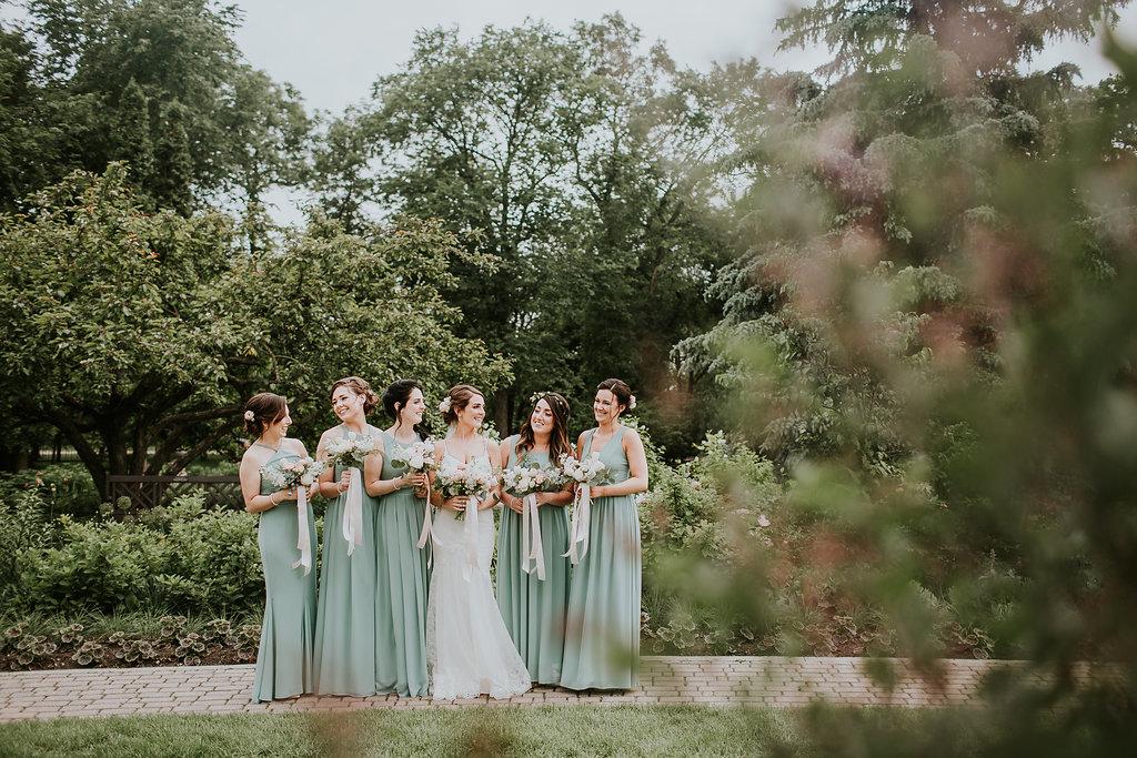 Sage Bridesmaid Dresses - Winnipeg Wedding Florists