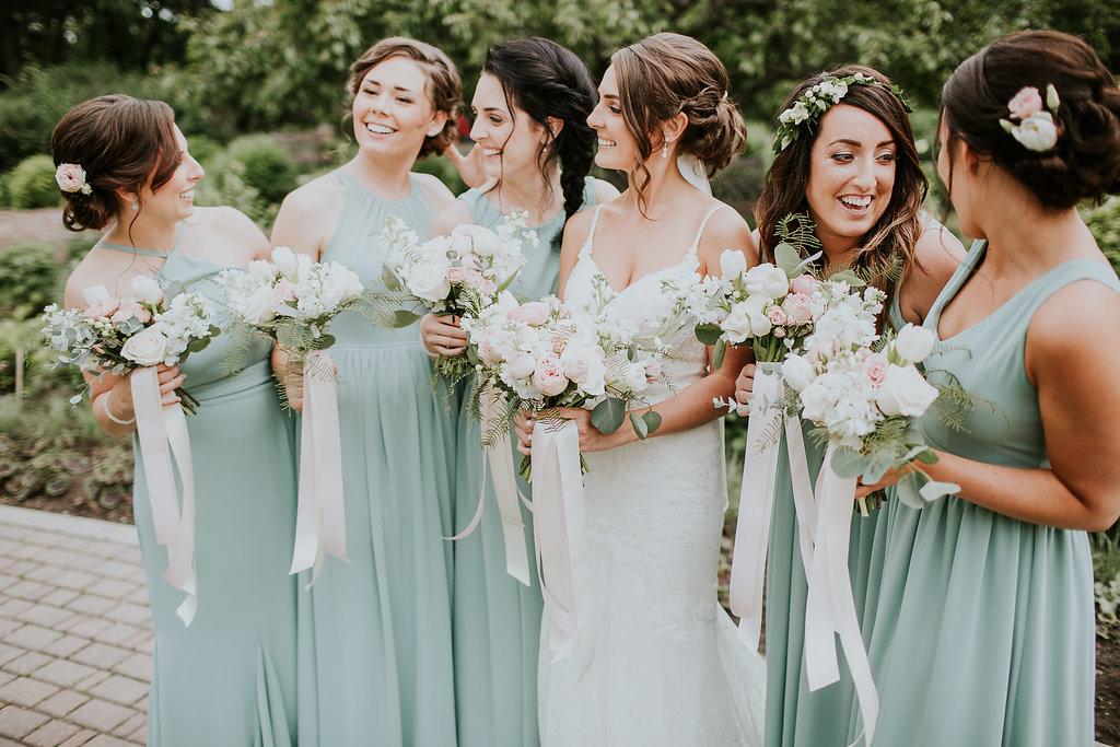 Wedding Flowers Winnipeg - White Bridesmaids Flowers