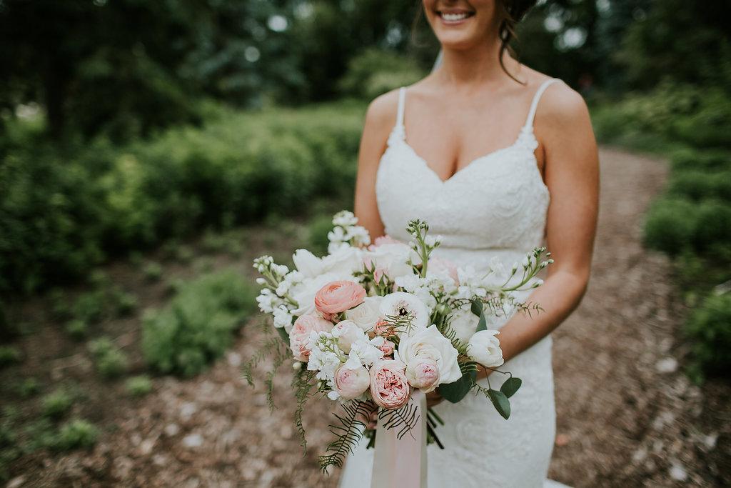Light Pink Garden Rose Bouquet - Stone House Creative