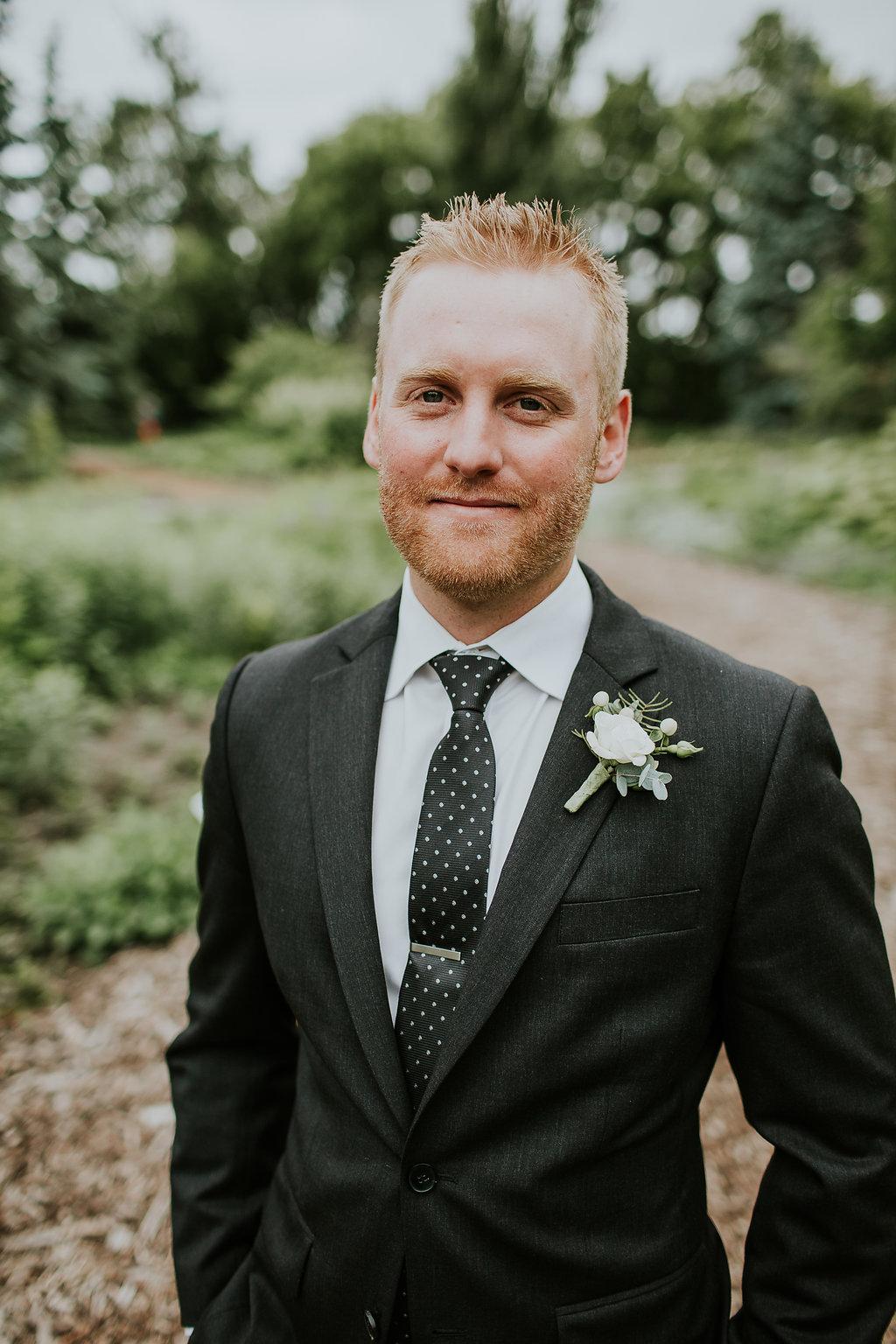 White Boutonniere - Wedding Florist in Winnipeg