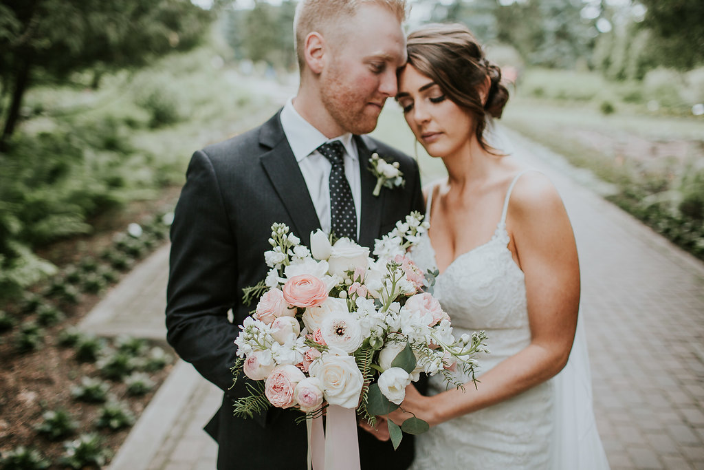 Light Pink and White Wedding Flowers - Stone House Creative