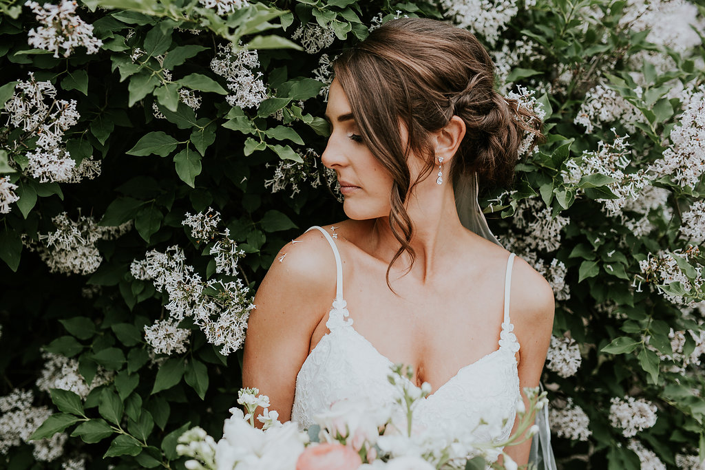 Bridal Portrait in the Lilacs - Winnipeg Wedding Photographer