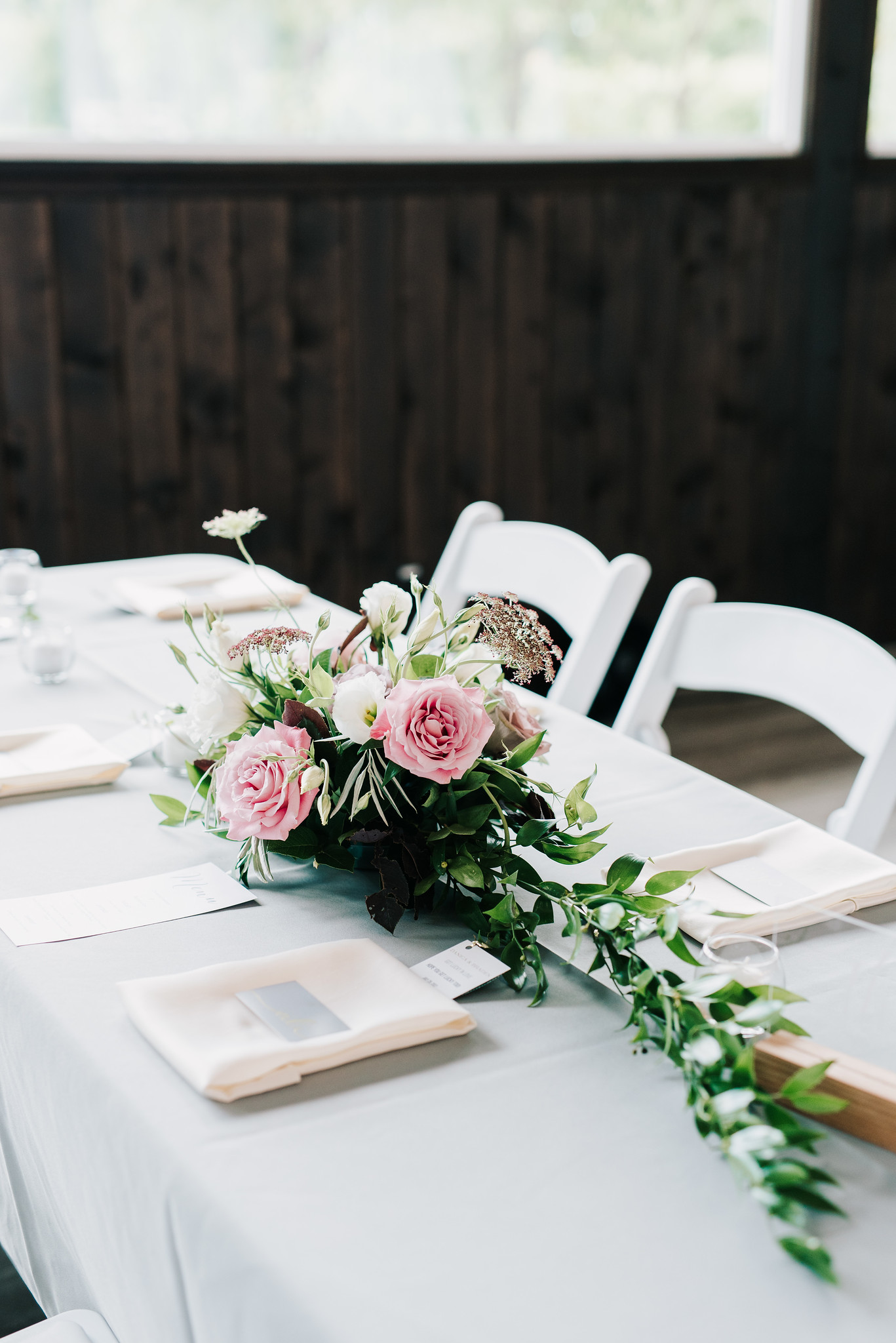 Floral Centrepices for Long Tables - Stone House Creative