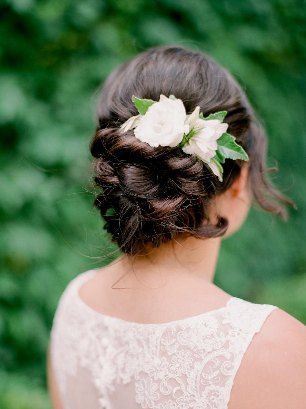 Bridal Flower Comb - Wedding Hair Flowers