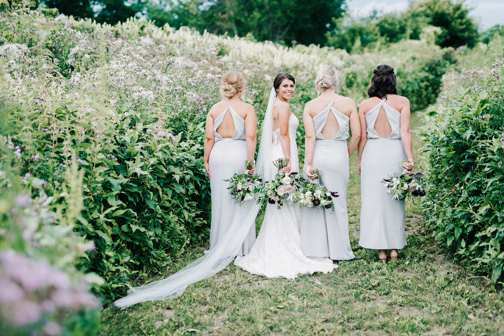 Grey Bridesmaid Dresses - Winnipeg Wedding Florist