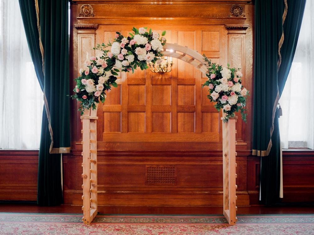 Wedding Ceremony Floral Arch - Winnipeg Florist