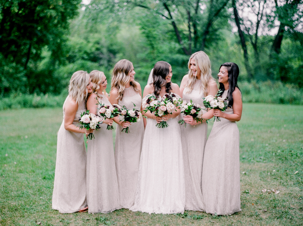 Blush Bridesmaid Bouquets - Winnipeg Wedding Flowers
