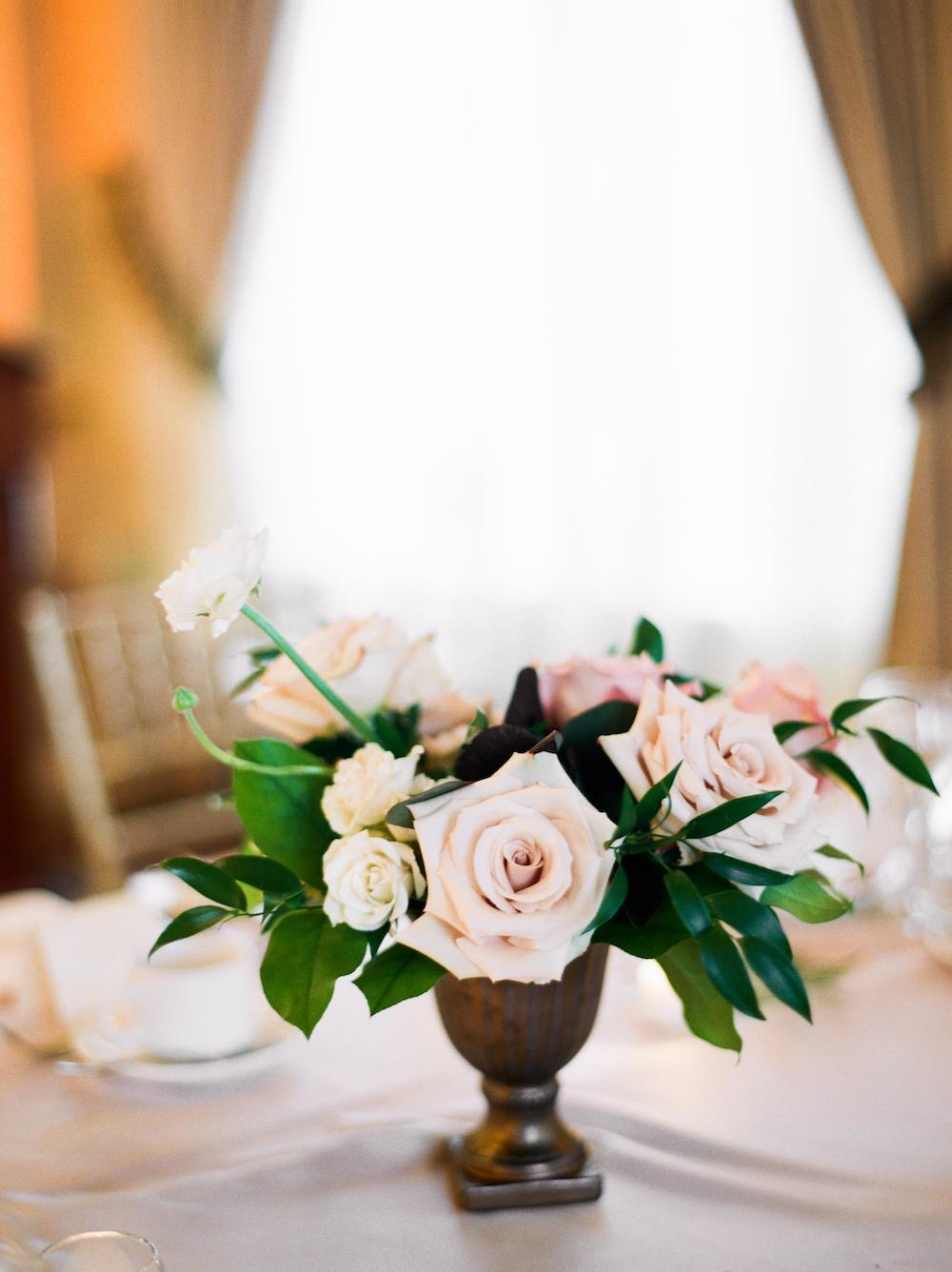 Blush Wedding Centrepieces - Winnipeg Wedding Florists