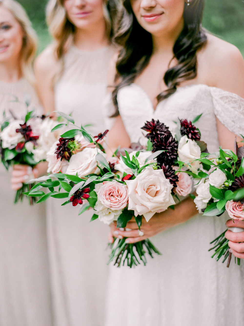 Garden Inspired Wedding Bouquets - Stone House Creative