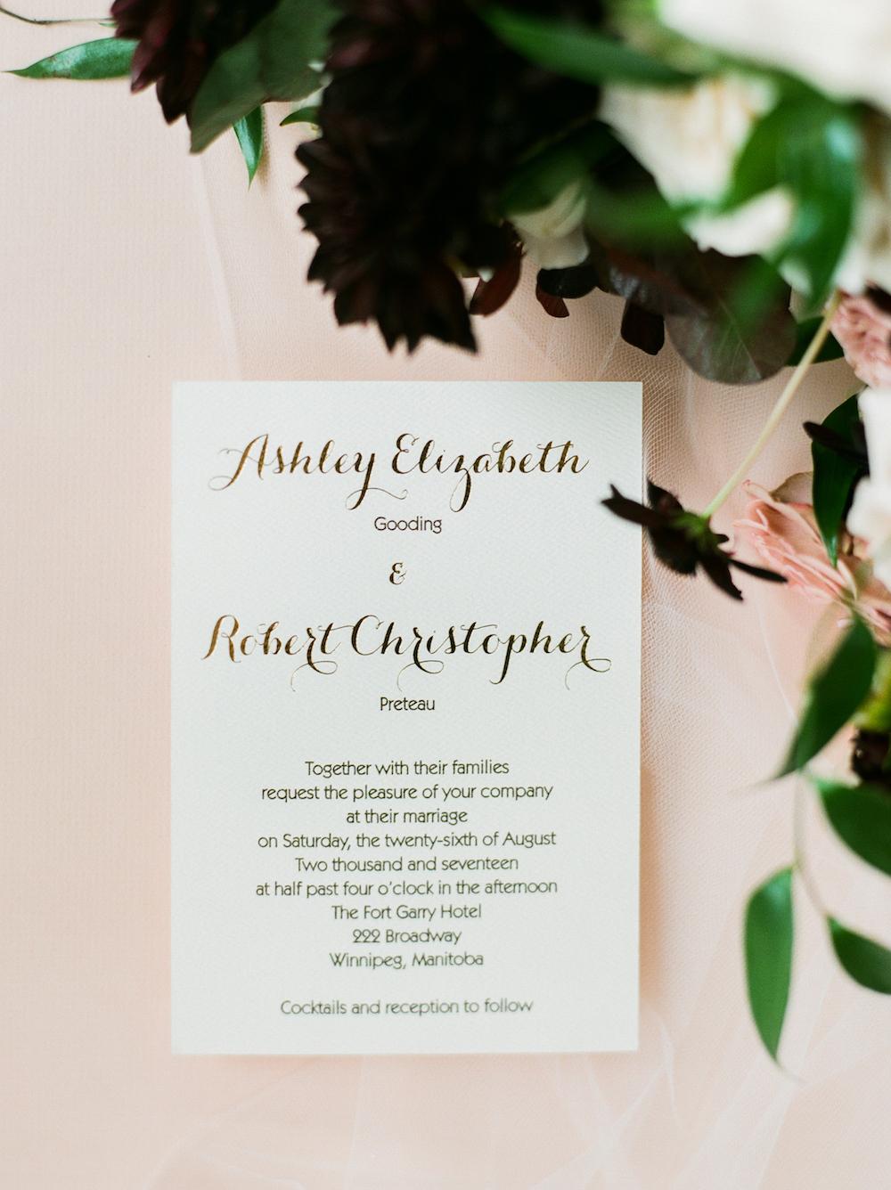 Elegant Fort Garry Hotel Wedding - Winnipeg Wedding Florist