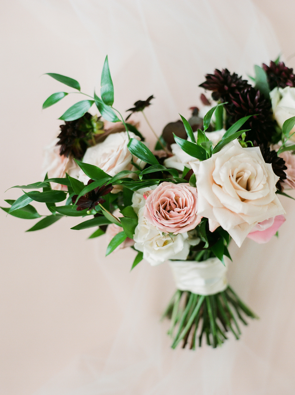 Blush and Berry Wedding Bouquet - Stone House Creative