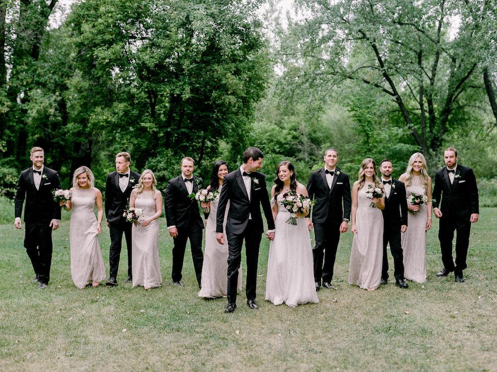 Elegant Bridal Party - Winnipeg Wedding Flowers