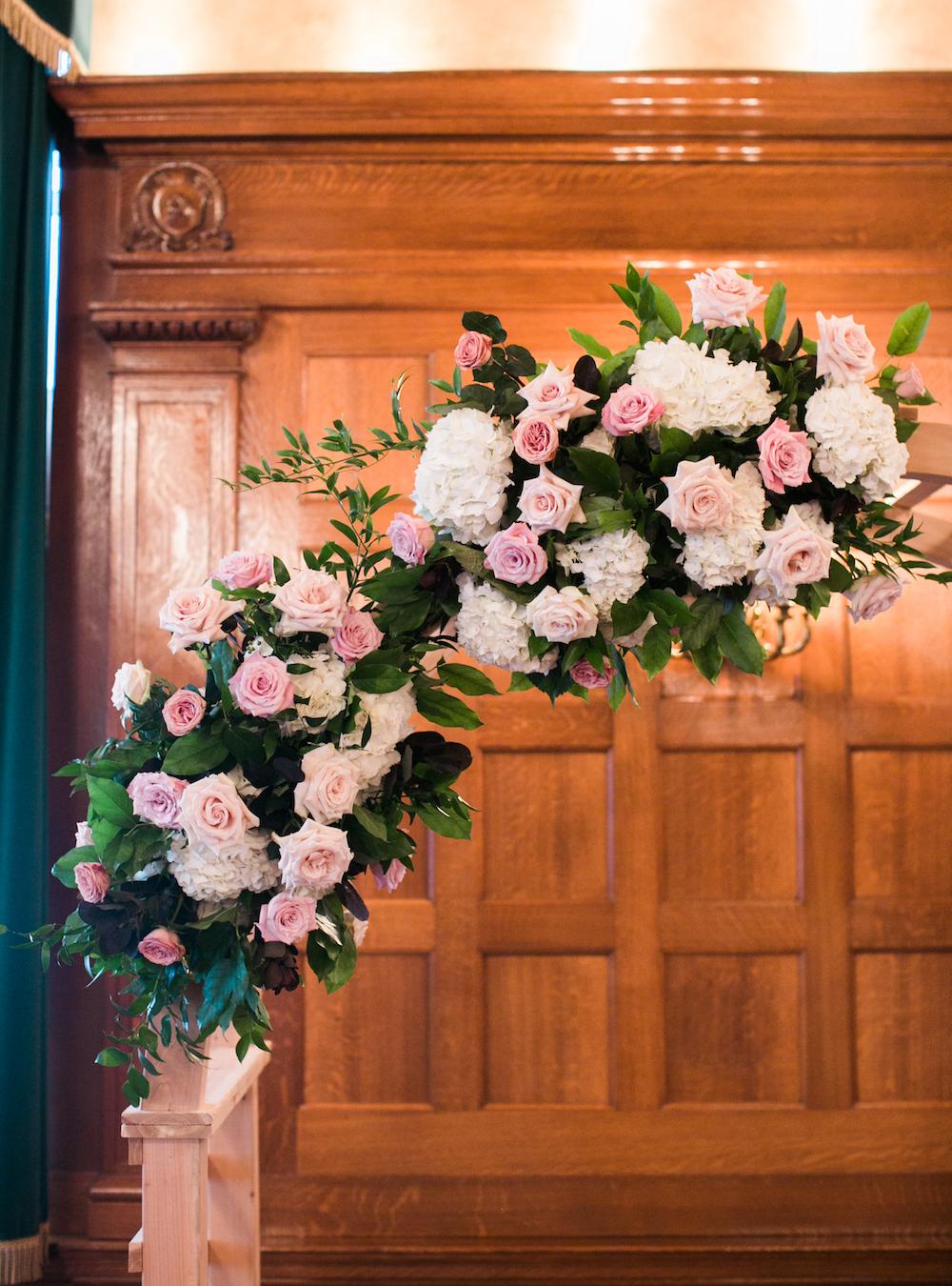 Floral Wedding Ceremony Arch - Winnipeg Wedding Flowers