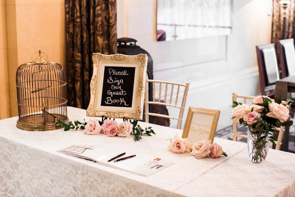 Guest Book Table Decor - Winnipeg Weddings
