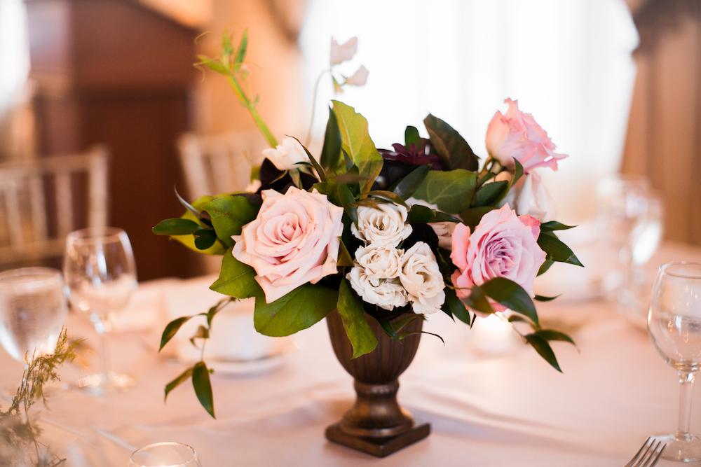 Classic Rose Centrepiece - Elegant Wedding Flowers Winnipeg