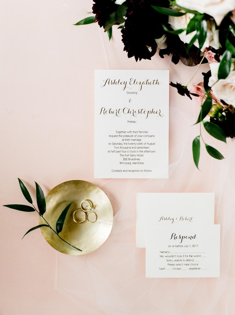 Blush and Burgundy Wedding Flowers - Winnipeg Weddings