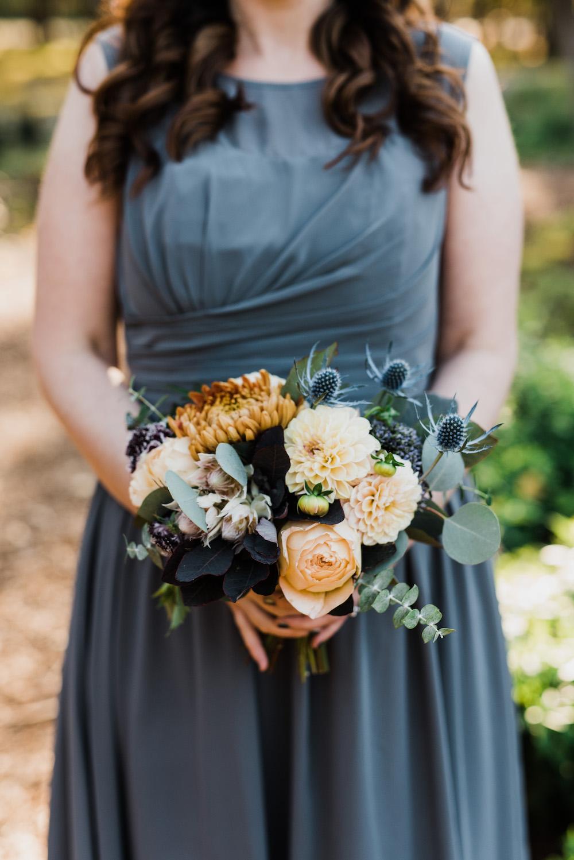 Grey Bridesmaid Dresses - Fall Wedding Ideas