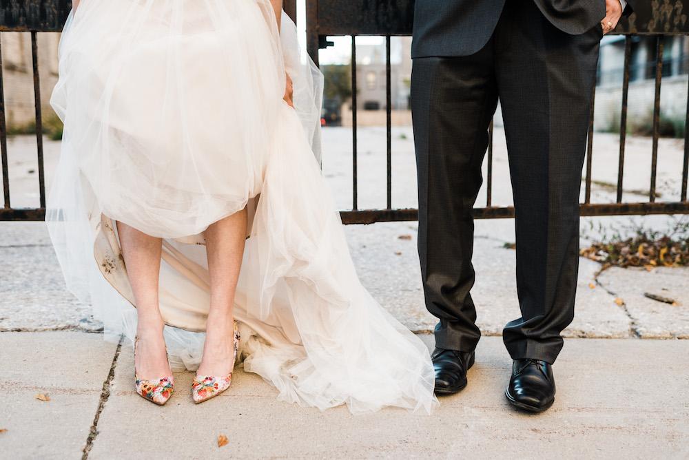 Floral Wedding Shoes - Winnipeg Wedding Ideas
