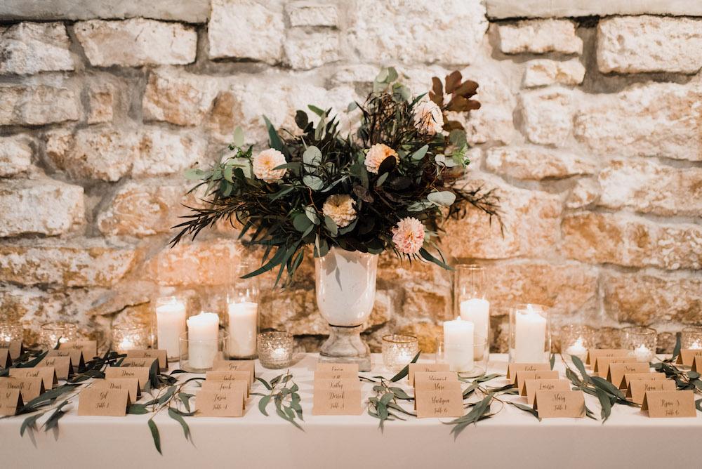 Escort Card Display - Winnipeg Wedding Florist
