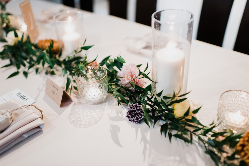 Garland Wedding Centrepiece - Stone House Creative