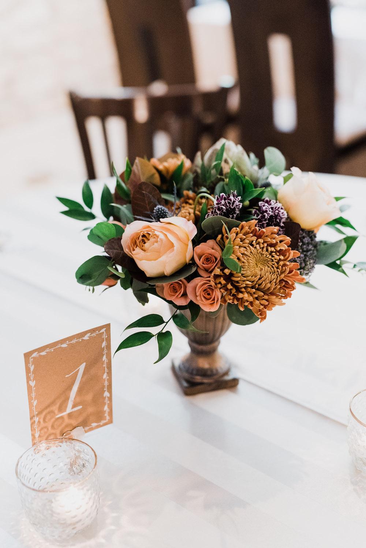 Fall Wedding Centrepiece - Wedding Florist in Winnipeg