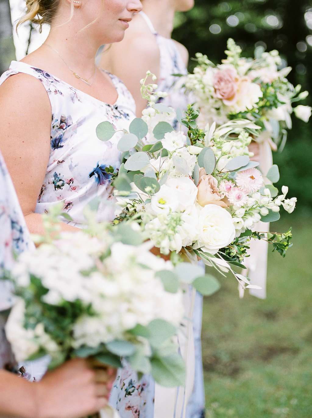 Blue and Blush Wedding - Bridesmaids Bouquets