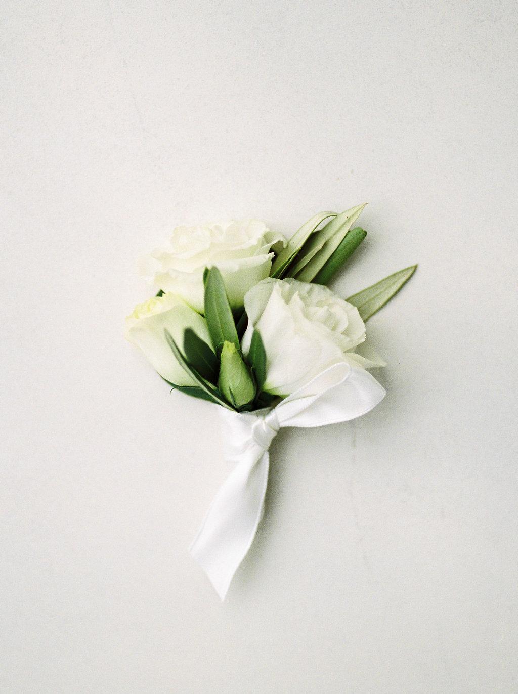 Lisianthus Boutonniere - Wedding Florist in Winnipeg
