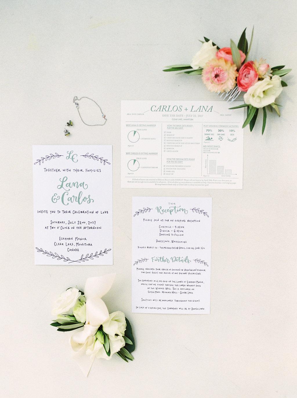 Blush and Blue Wedding Ideas - Winnipeg Wedding Florist