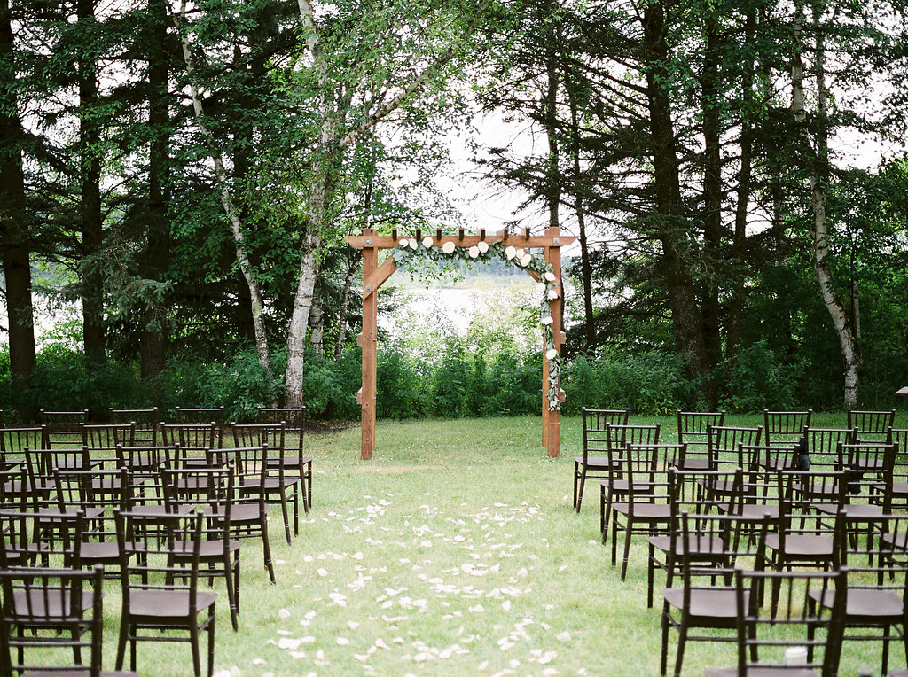 Outdoor Wedding Ceremony Flowers - Clear Lake Wedding