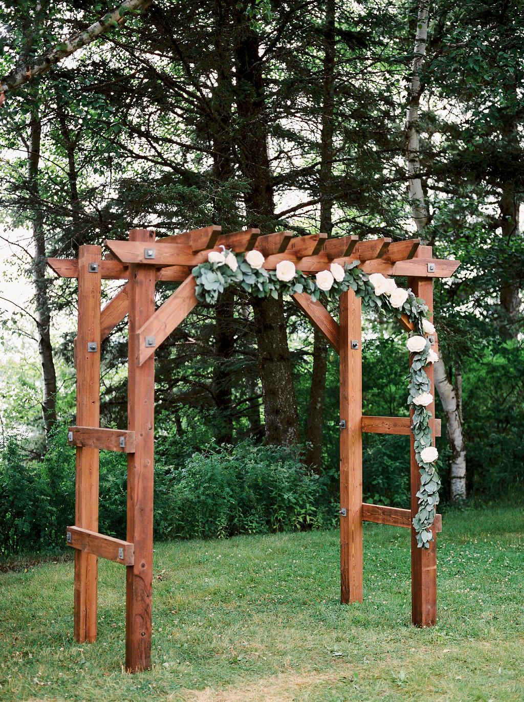 Wedding Ceremony Arch - Elkhorn Wedding Clear Lake