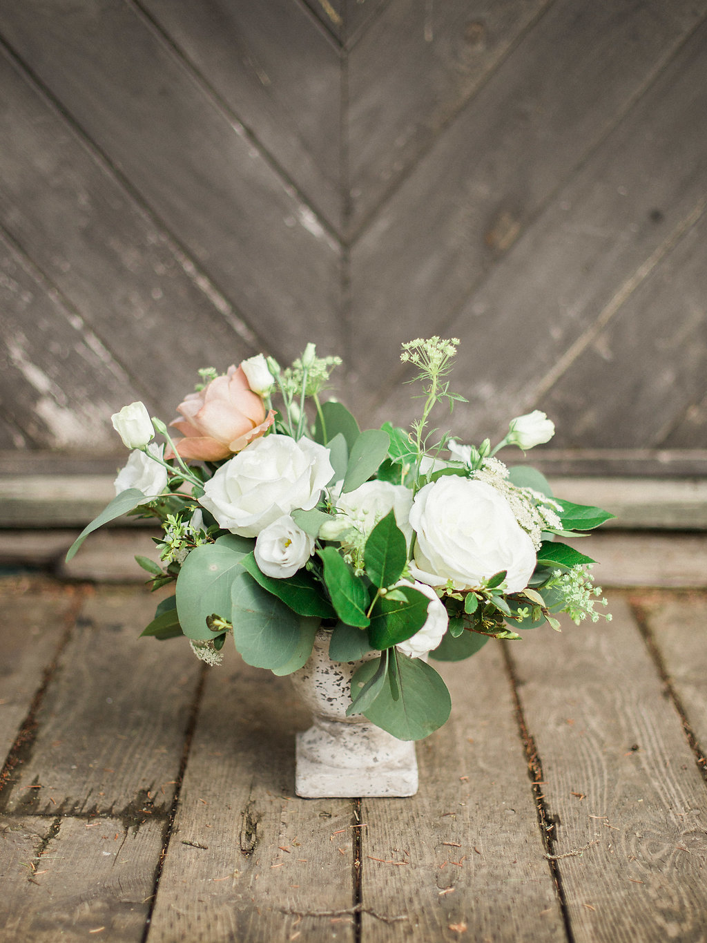 Natural Inspired White Wedding Flowers - Stone House Creative