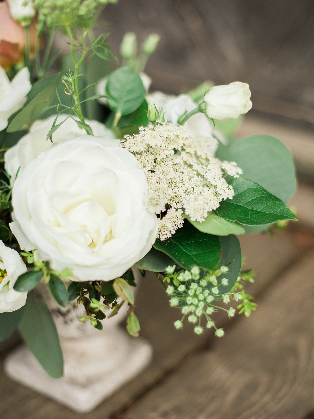 White Wedding Centrepiece - Wedding Florists in Clear Lake