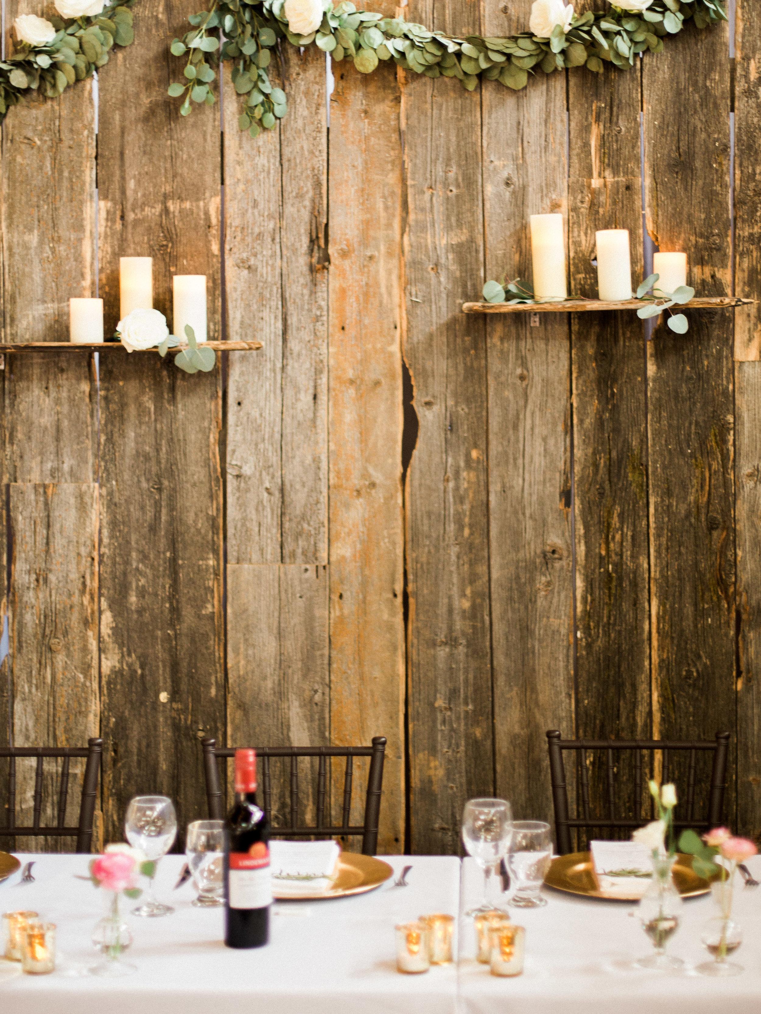 Barnwood Wedding Backdrop - Natural Wedding Inspiration