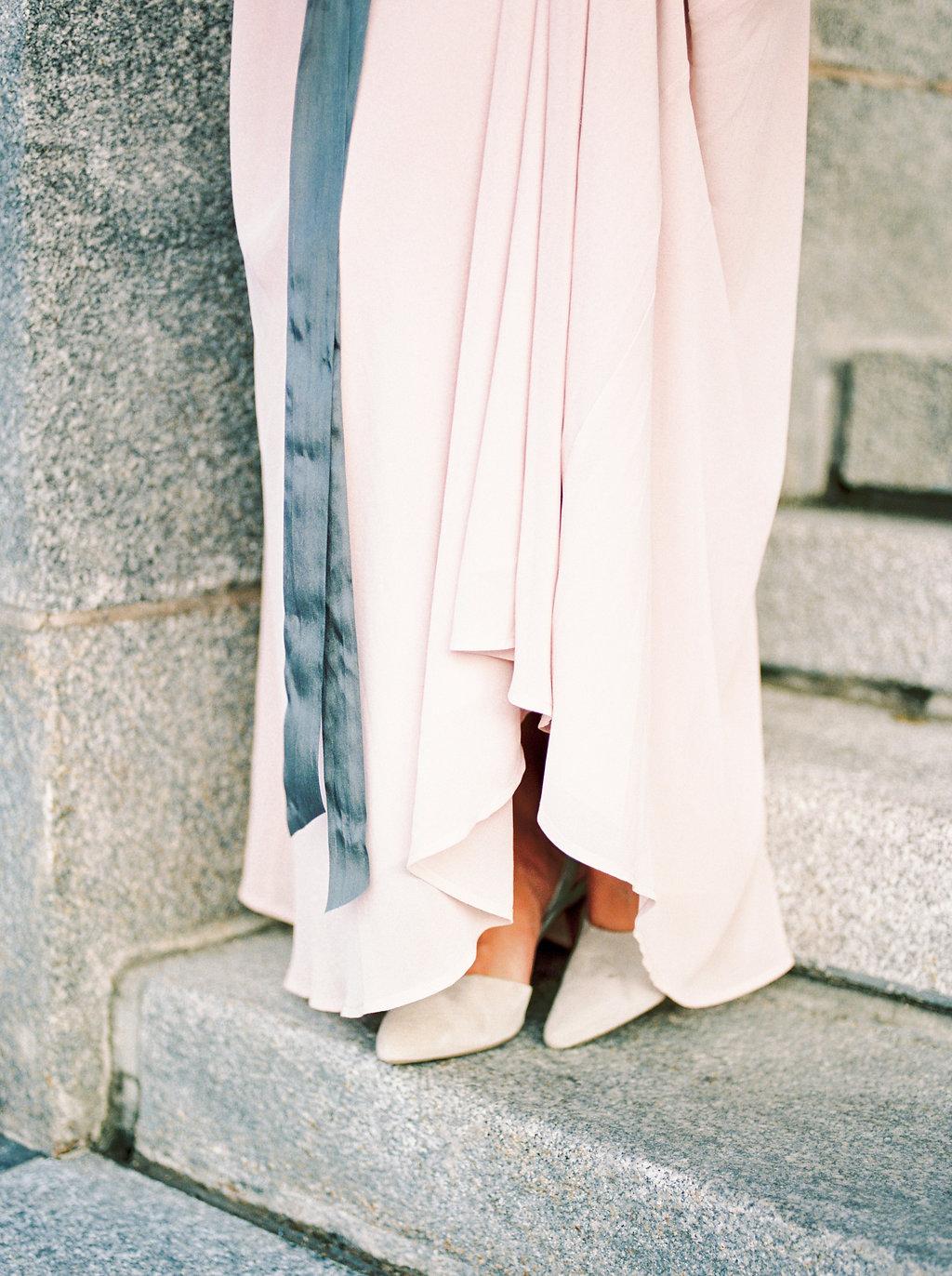 Grey Silk Ribbon - Elegant Wedding Ideas
