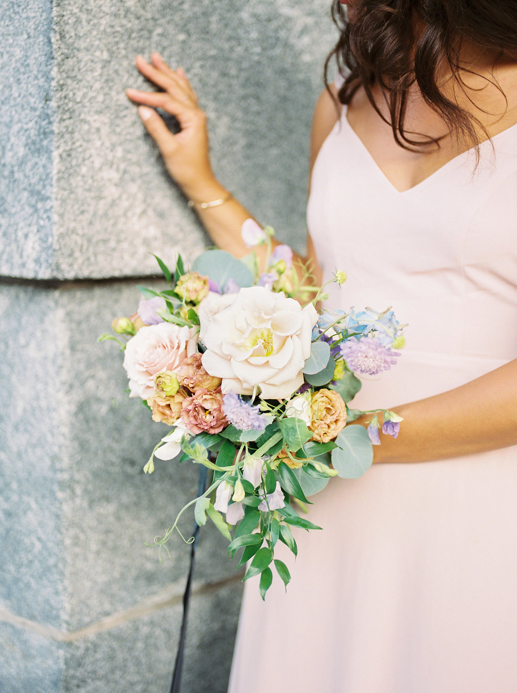 Organic Blush Bridal Bouquet - Stone House Creative
