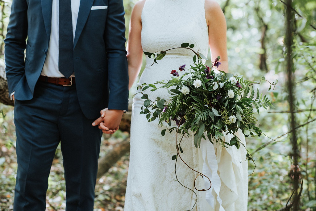 Greenery Bridal Bouquet - Stone House Creative