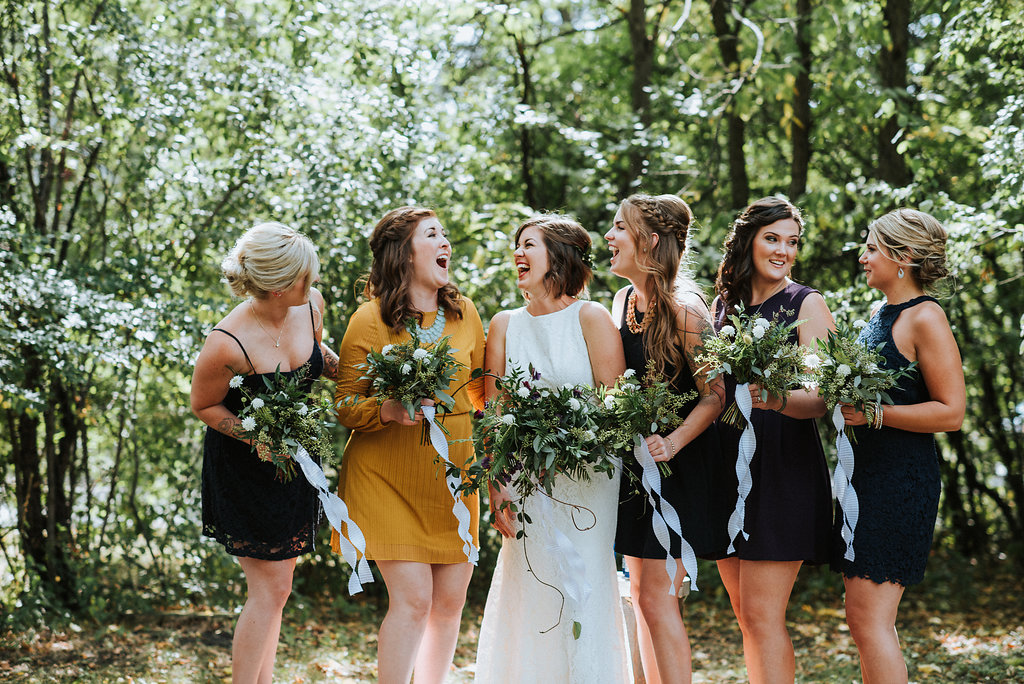 Mustard Bridesmaid Dress - Organic Wedding Inspiration