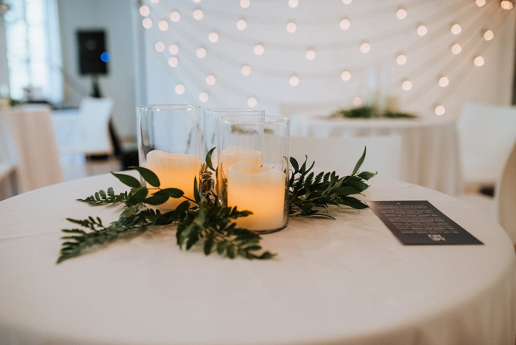 Greenery Wedding Decor - St Norbert ARts Centre Wedding
