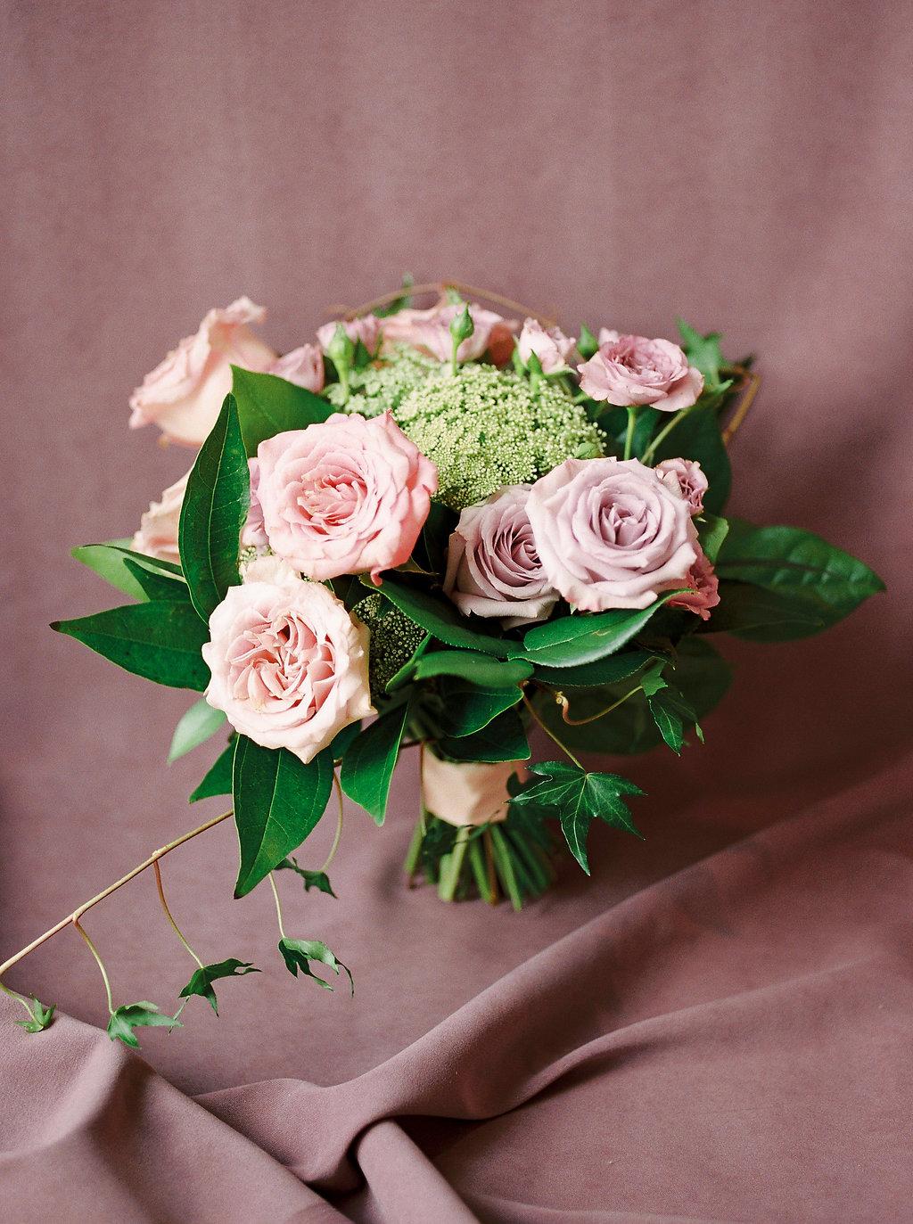 Simple Pink Bridal Bouquet - Wedding Flowers Winnipeg