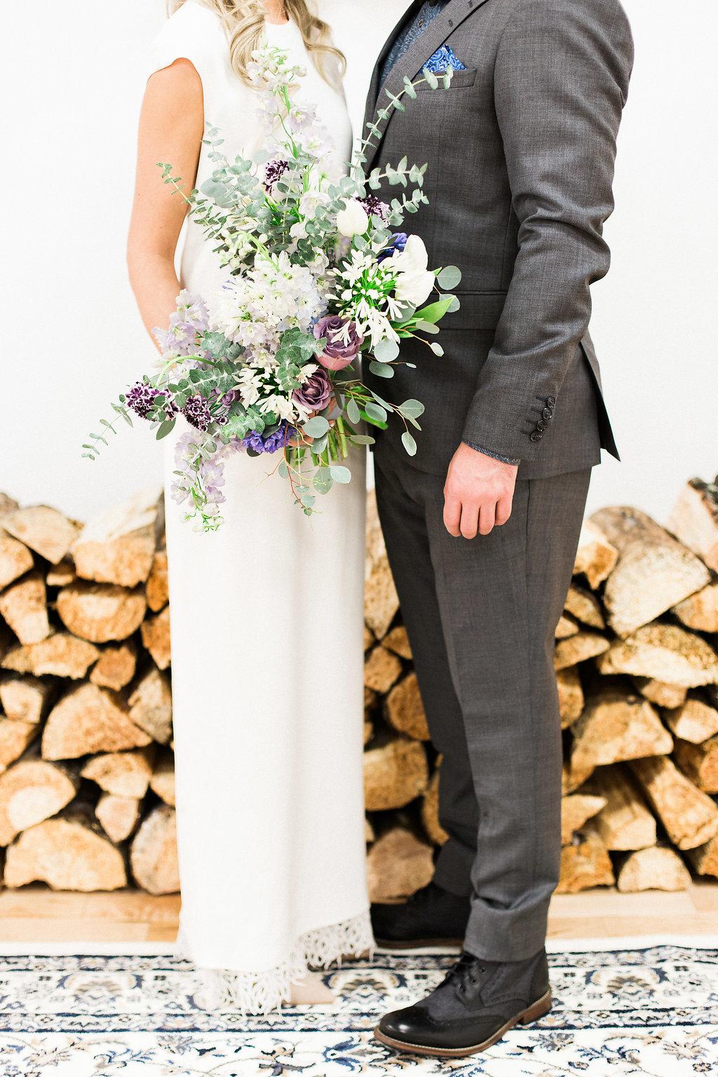 Winter Wedding Bouquet - Winnipeg Wedding Florist
