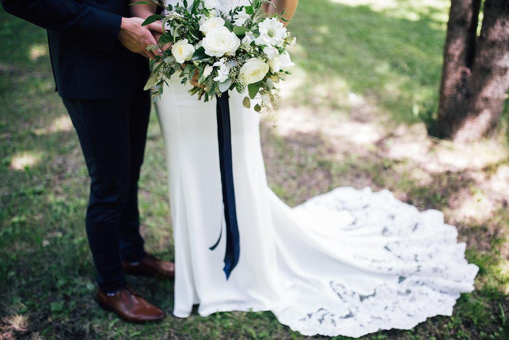 White and Green Wedding Flowers - Elegant Wedding in Winnipeg