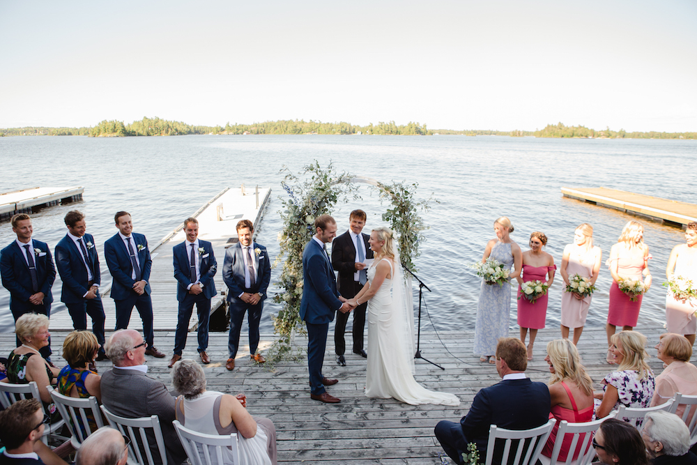 Lake of the Woods Wedding - Wedding Ceremony on the Lake