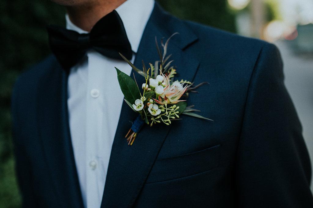 Textured Wedding Boutonniere - Winnipeg Wedding Florist