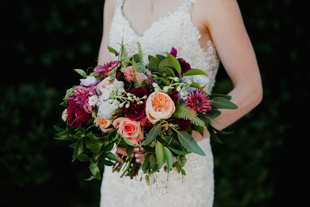 Jewel Tone Bridal Bouquet - Stone House Creative