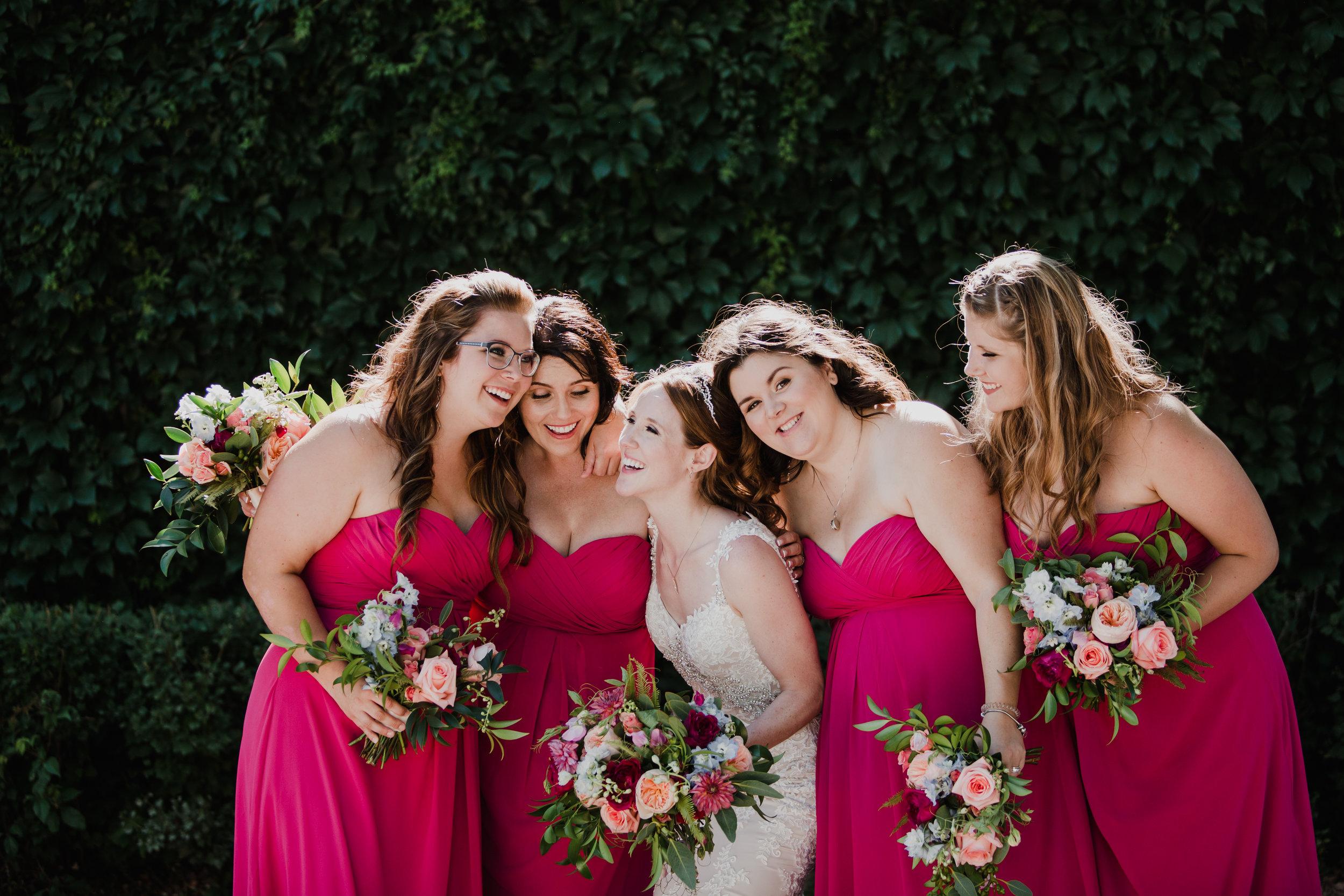 Fuschia Bridesmaid Dresses - Winnipeg wedding Florist