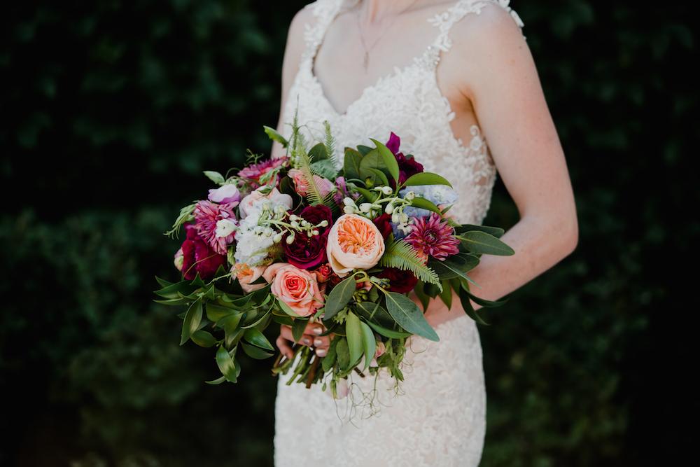 Jewel Tone Bridal Bouquet - Winnipeg Wedding Florists