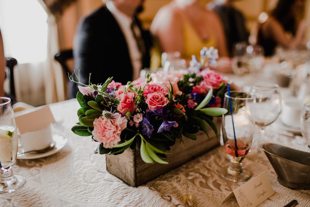 Winnipeg Wedding Florist - Jewel Tone Centrepieces